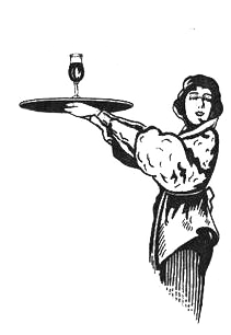 gravure serveuse bar vermouth routin